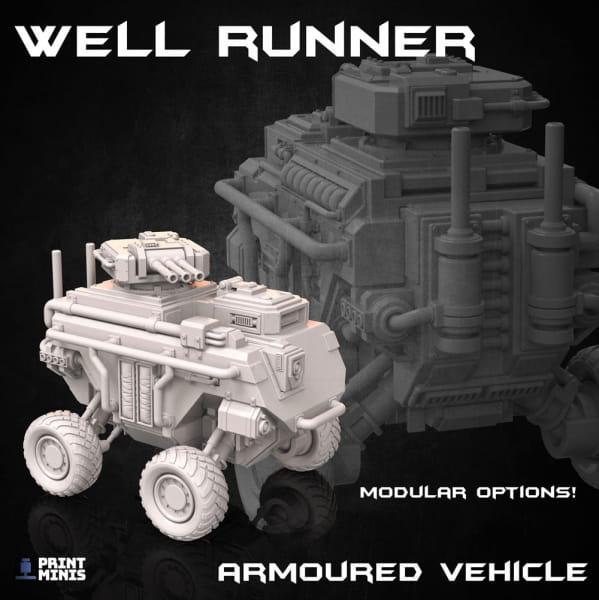 Light armored Well Runner -Dieselpunk Desert Collection-