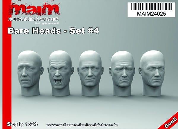 Bare Heads - Set #4 / 1:24