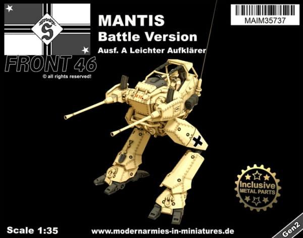 Mantis Ausf. A - leichter Aufklärer (Battle Version) -Front46- / 1:35