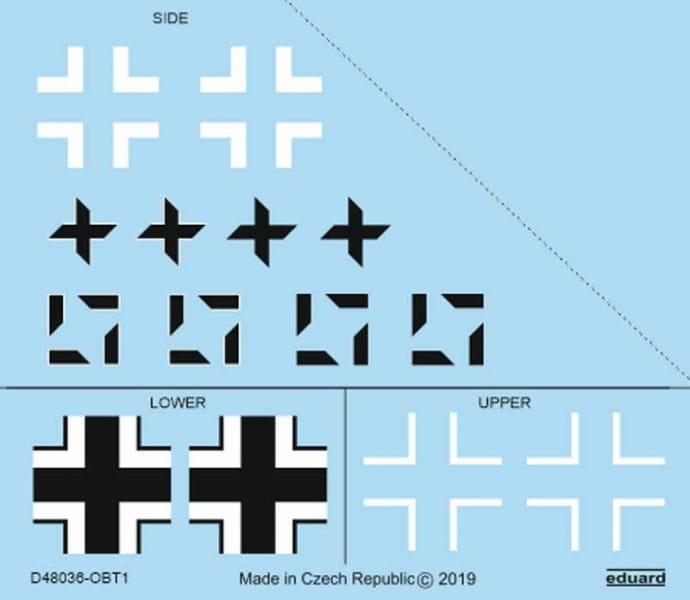 Eduard Models Fw 190A-8/R2 national insignia - Eduard - / 1:48