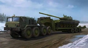 MAZ-537G Late Production type with ChMZAP-9990 semi-trailer / 1:35