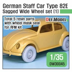 WWII German staff car Type 82E Wide Wheel set (1) - for RyeField / 1:35