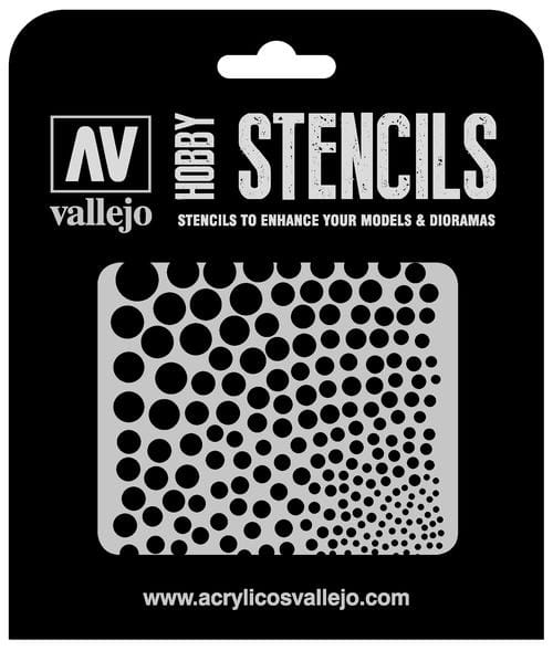 Vallejo Hobby Stencils: Circle Textures