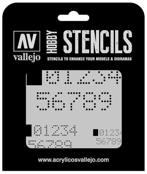Vallejo Hobby Stencils: Digital Numbers