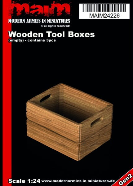 MAiM / Front46 Wooden Tool / Fruits Boxes (3pcs) / 1:24
