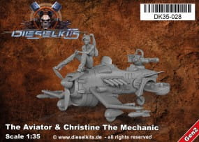 The Aviator + Christine the Mechanic - Steam Punk Vehicle / 1:35