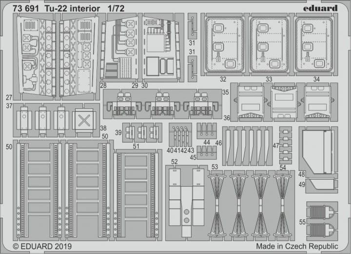 Tu-22 interior - Trumpeter - / 1:72