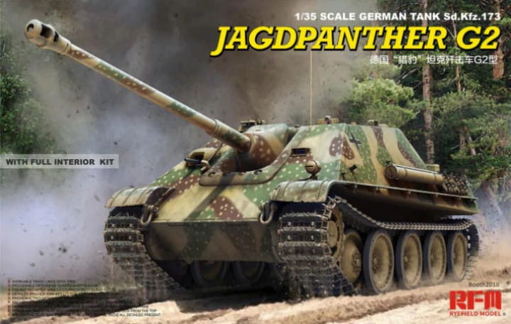 Rye Field Model Jagdpanther G2 - Full Interior + workable Tracks / 1:35