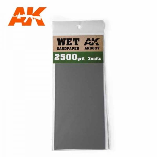 AK Interactive Wet Sandpaper 2500 Grit. 3 units