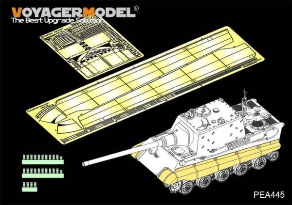 """WWII German Sd.Kfz.186 Panzerjäger """"Jagdtiger"""" Schurzen Late Version (For TAKOM 8001) / 1:35"""