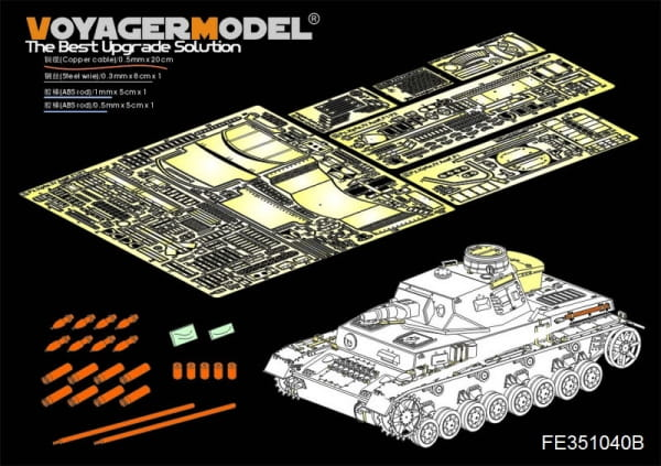 WWII German Pz.Kpfw.IV Ausf.F1 Basic included Ammo (For Border BT-003) / 1:35
