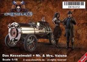 Das Kesselmobil + Mr. and Ms. Valone - Steam Punk Vehicle / 1:16
