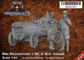 Das Kesselmobil + Mr. and Ms. Valone - Steam Punk Vehicle / 1:24