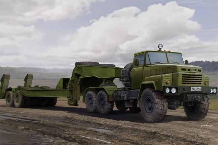 Russian KrAZ-260B Tractor with CMAZ/ChMZAP-5247G semitrailer / 1:35