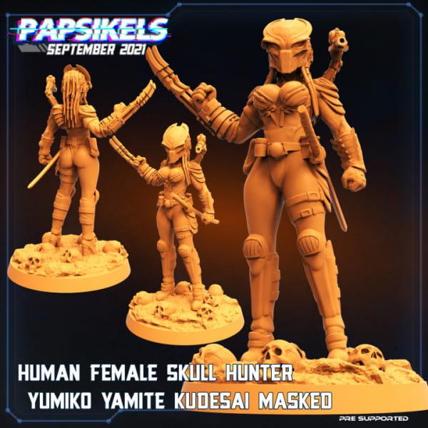 Human Female Skull Hunter Yumiko #2
