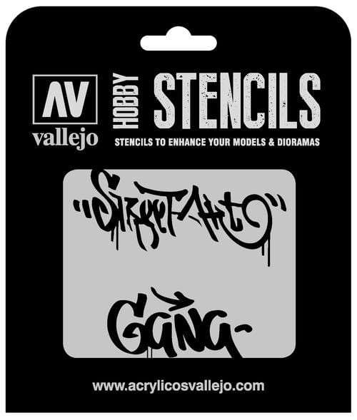 Vallejo Hobby Stencils: Street Art Num. 2 Markings - 1:35