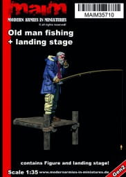 Old man fishing + landing stage / 1:35