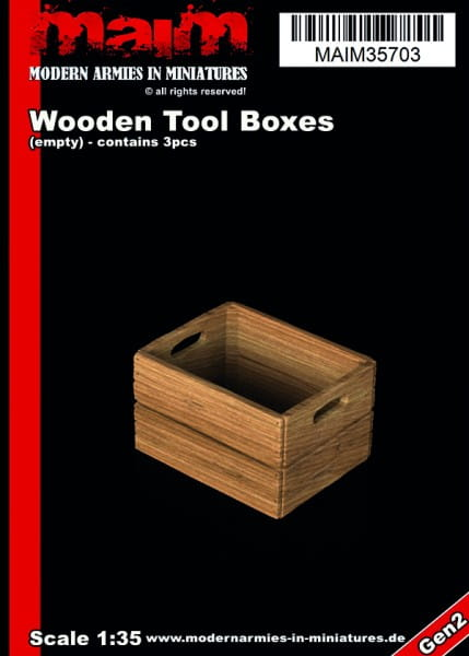 Wooden Tool / Fruits Boxes (3pcs) / 1:35