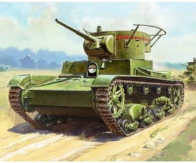 T-26 mod.1933 Sov. light tank WWII / 1:100