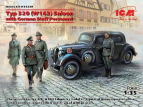 Typ 320 (W142) Saloon with German Staff Personnel / 1:35