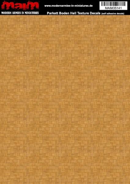 Parkett Boden Hell - self-adhesive Decals / 1:35