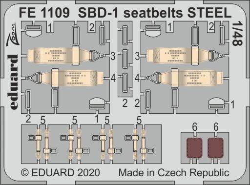 SBD-1 seatbelts STEEL - Academy - / 1:48