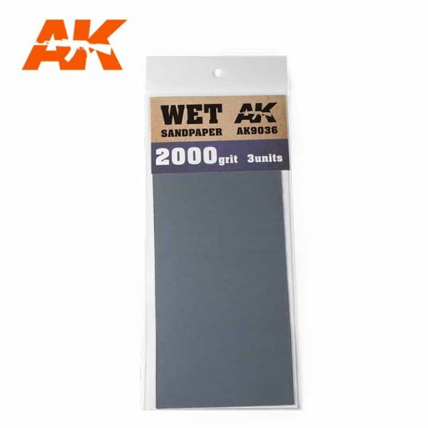 Wet Sandpaper 2000 Grit. 3 units