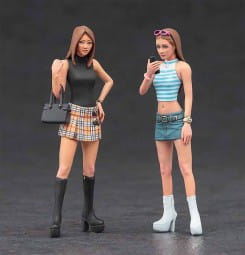 Platform Boots Girls - 2 Figuren / 1:24