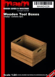 Wooden Tool / Fruits Boxes (3pcs) / 1:24