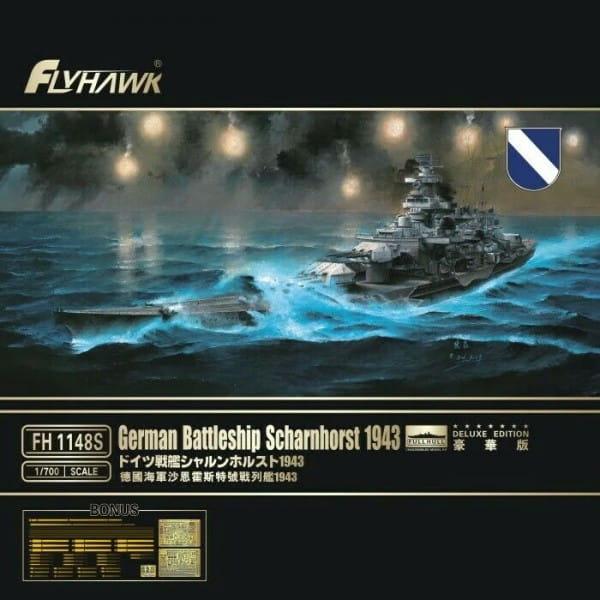 German Battleship Scharnhorst 1943 Deluxe Edition / 1:700
