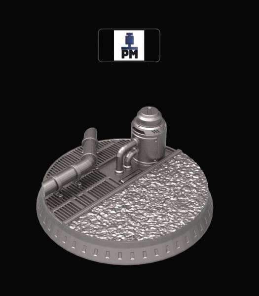 Dieselpunk Display Stand / Base / Vignette #6