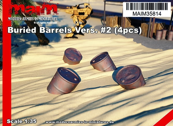 Buried Barrels Vers. #2 (4pcs) / 1:35