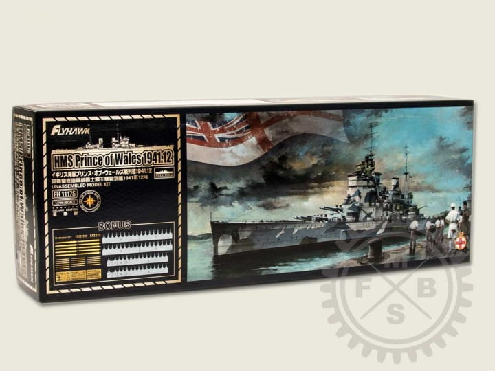HMS Prince of Wales 1941 - deluxe / 1:700