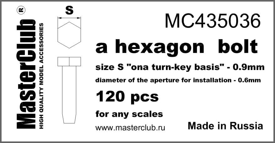 0 90mm hexagon standard bolzen gr e s 1 35 masterclub 435036. Black Bedroom Furniture Sets. Home Design Ideas
