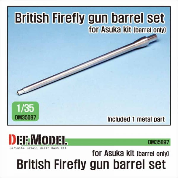 Def.Model British Sherman Firefly metal barrel (for Asuka) / 1:35