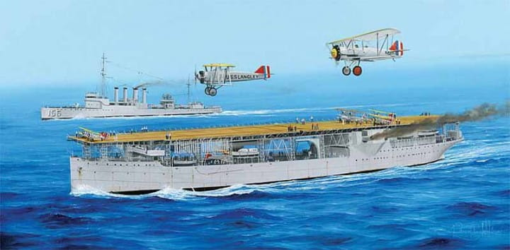 USS Langley CV-1 / 1:350