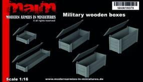 Military wWooden Boxes (5pcs) / 1:16