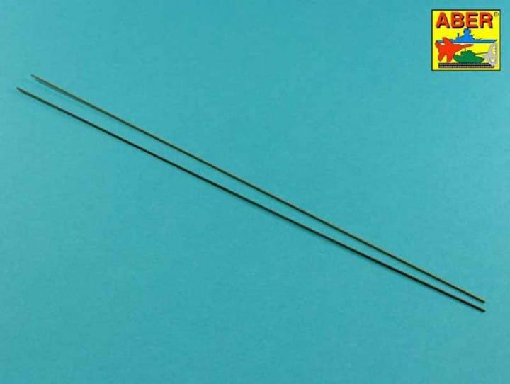 Aber Model Brass hexagonal rods 1,0mm length 245mm x 2 pcs.