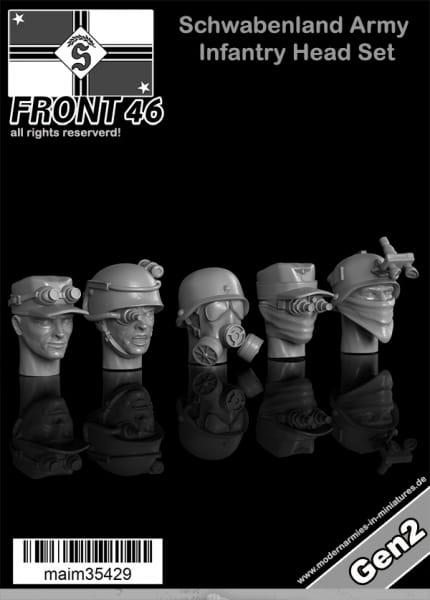 Schwabenland Army Infantry Head Set - Front46 (5pcs) / 1:35