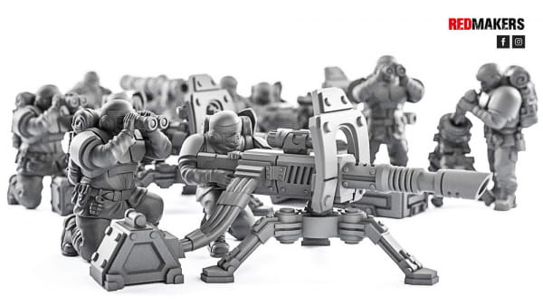 Lasercanon - Alpha troops  - Heavy Support Squad of the Imperial Force