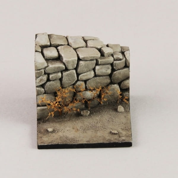 Base with Stone Wall / 1:35 - 1:32