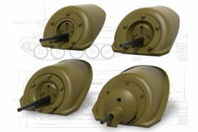 T-34 Front Machine Gun Mount (4 type) set 2 / 1:35