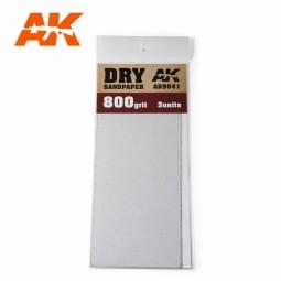 Dry Sandpaper 800 Grit. 3 units