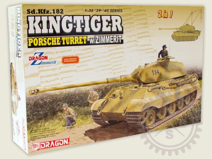 Kingtiger Porsche Turret w/ Zimmerit / 1:35
