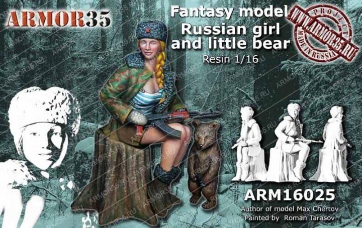 Russian Girl and little Bear / 1:16