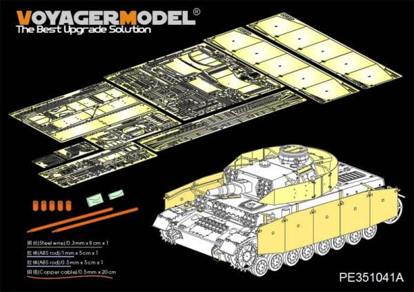 WWII German Pz.Kpfw.IV Ausf.F1 (LateProduction) Basic (For Border BT-003) / 1:35