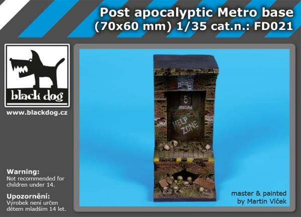 Post apocalyptic metro base - 1:35 / 70mmx60 mm