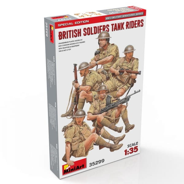 British Soldiers Tank Riders. Special Edition / 1:35