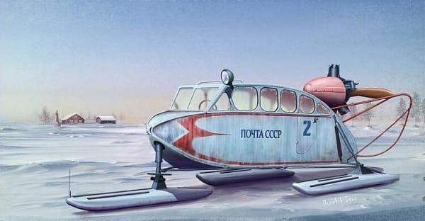 Soviet NKL-6 Aerosan / 1:35