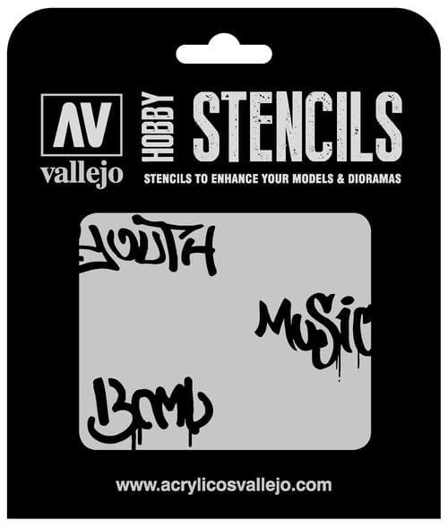 Vallejo Hobby Stencils: Street Art Num. 1 Markings - 1:35